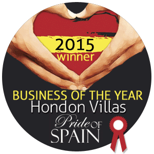 We are the Business of the Year 2015 in the Costa Blanca